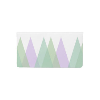 Green and lilac triangles checkbook cover