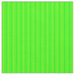 [ Thumbnail: Green and Lime Colored Lined Pattern Fabric ]