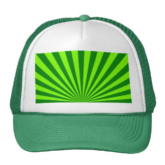 Green and Lime Funky Striped Abstract Art Trucker Hat