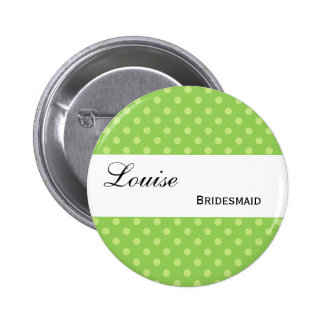 Green and Lime Polka Dots Wedding Collection Pin