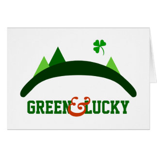 Green and Lucky Card