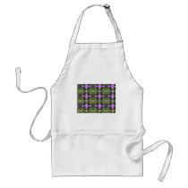 Green and Mauve Abstract Pattern Adult Apron