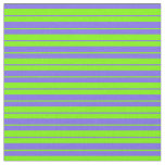 [ Thumbnail: Green and Medium Slate Blue Striped/Lined Pattern Fabric ]