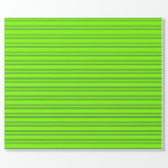 [ Thumbnail: Green and Midnight Blue Colored Lines Wrapping Paper ]