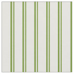 [ Thumbnail: Green and Mint Cream Colored Lines Fabric ]