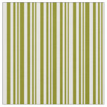 [ Thumbnail: Green and Mint Cream Colored Lines Pattern Fabric ]