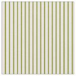 [ Thumbnail: Green and Mint Cream Colored Pattern Fabric ]