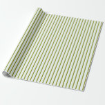 [ Thumbnail: Green and Mint Cream Colored Pattern Wrapping Paper ]