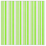 [ Thumbnail: Green and Mint Cream Colored Stripes Fabric ]
