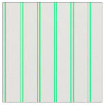 [ Thumbnail: Green and Mint Cream Colored Stripes Pattern Fabric ]