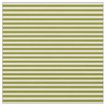 [ Thumbnail: Green and Mint Cream Pattern of Stripes Fabric ]