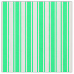 [ Thumbnail: Green and Mint Cream Stripes/Lines Pattern Fabric ]