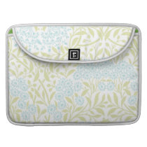 Green and Mint Floral Damask Pattern MacBook Pro Sleeve