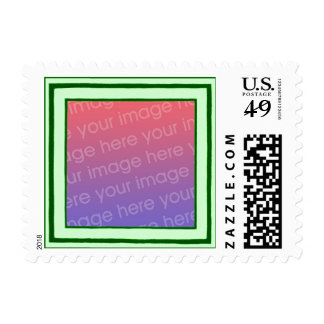 Green and mint frame, your photo wedding stamps