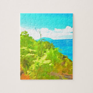 Green and ocean jigsaw puzzles