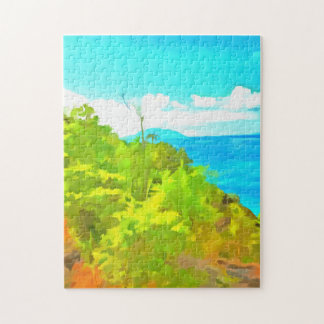 Green and ocean puzzle