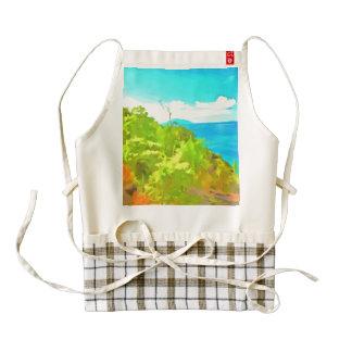 Green and ocean zazzle HEART apron