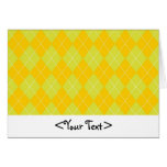Green and Orange Argyle Pattern Stationery Note Card