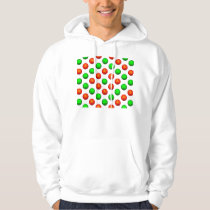 Green and Orange Basketball Pattern Hoodie