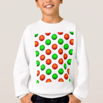 Green and Orange Basketball Pattern Sweatshirt