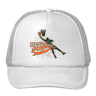 Green and Orange Basketball Tshirts and Gifts Trucker Hat