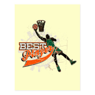 Green and Orange Basketball Tshirts and Gifts Postcard