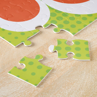 Green and Orange Butterfly Puzzle