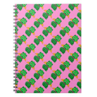 Green And Orange Chibi Dragon Notebooks
