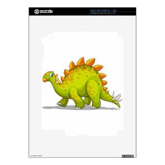 Green and orange dinosaur skin for iPad 2
