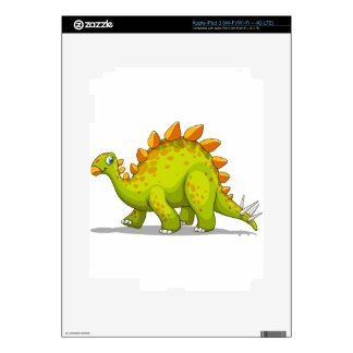 Green and orange dinosaur skin for iPad 3