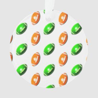 Green and Orange Football Pattern