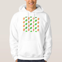 Green and Orange Football Pattern Hoodie
