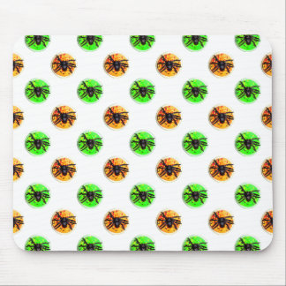 Green and Orange Halloween Spider Cookies Mouse Pad