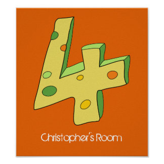 Green and Orange Lolly 4 Children's Poster