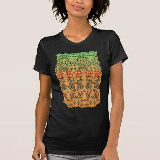 Green and Orange Musical Abstract Shirt