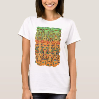 Green and Orange Musical Abstract T-Shirt