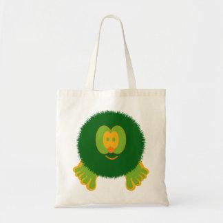 Green and Orange Pom Pom Pal Bag