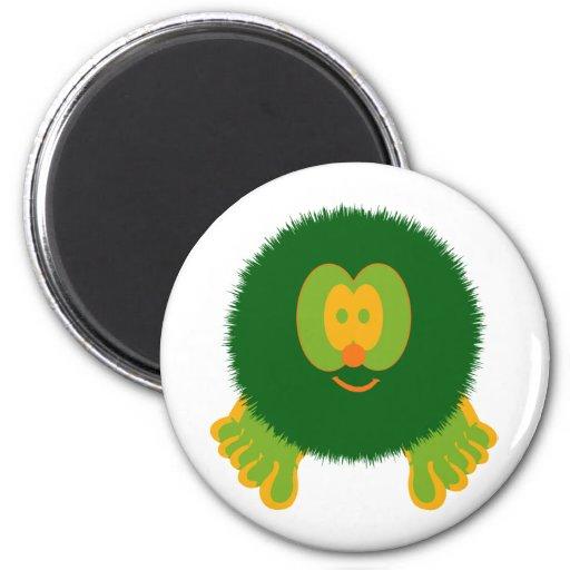 Green and Orange Pom Pom Pal Magnet