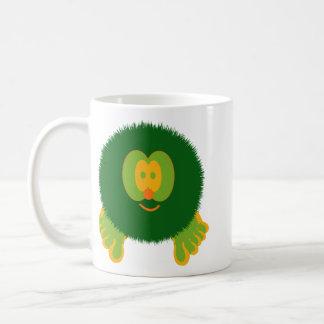 Green and Orange Pom Pom Pal Mug