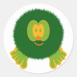 Green and Orange Pom Pom Pal Stickers