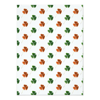 Green and Orange Shamrock Pattern Card