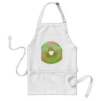 Green and orange spirograph apron