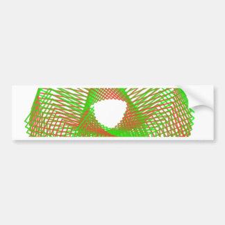 Green and orange spirograph bumper stickers