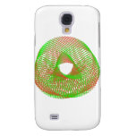 Green and orange spirograph galaxy s4 cover