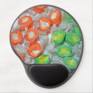 Green and orange taffy candy gel mousepad