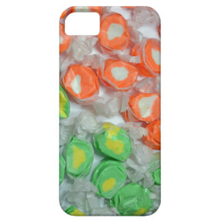 Green and orange taffy candy iphone case