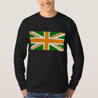Green and Orange Union Jack T-Shirt