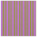 [ Thumbnail: Green and Orchid Colored Pattern Fabric ]