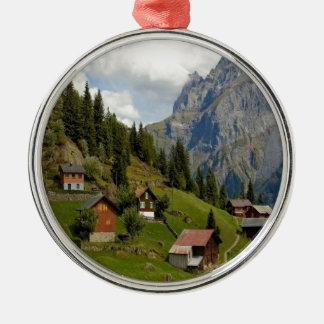 Green and peace Chli Windgällen Uri Switzerland Metal Ornament