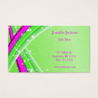 Green and Pink Abstract Business Cards
